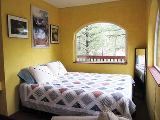 Santa Fe cabin photo - queen sized bed in sleeping nook
