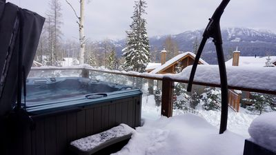 Private hot tub with great views.