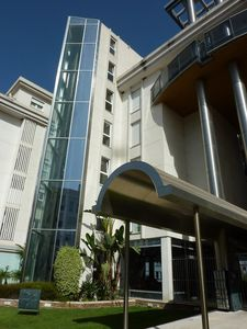 Altea apartment rental - Entrance with elegant glass lift
