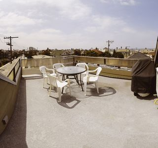 Private roof top deck with BBQ