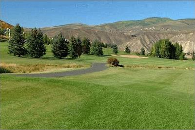 Beaver Creek townhome rental - Summer view of the Beaver Creek golf course from our back patio.
