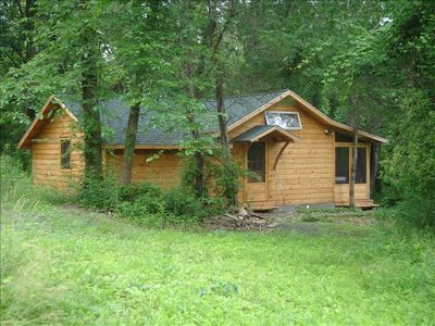 Private  woodland cottage on our 50 acre certified organic small family farm