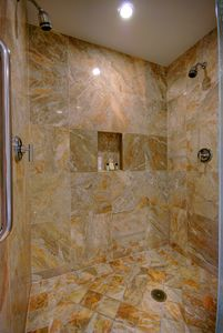 Giant master shower with dual shower head