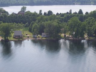 Camp Driftin is in the center -- view from the sky! - South Hero cottage vacation rental photo