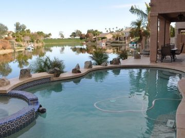 Chandler house rental - Pool area by the lake