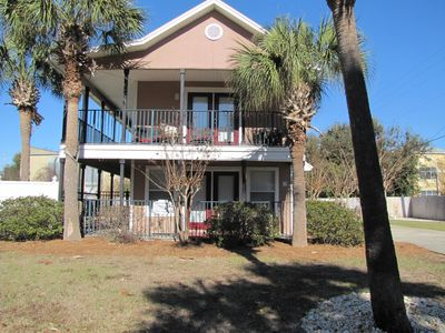 Serenity Cottage.  3BR/3BA with private pool.   Walk to the beach!  Sleeps 8!