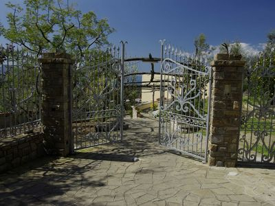 Massa Lubrense chateau / country house rental - Entrance Villa Romantica