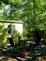 Sag Harbor cottage photo - Alfresco Dining in the back of the House
