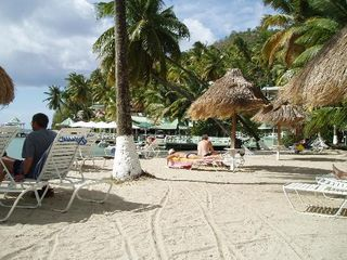 Marigot Bay apartment photo - Relaxing on the beach