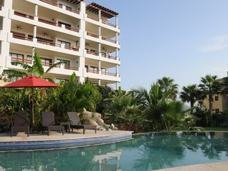 San Jose del Cabo condo photo - Step out 1 of 5 sliders to 3rd floor terrace--above the umbrella to the corner