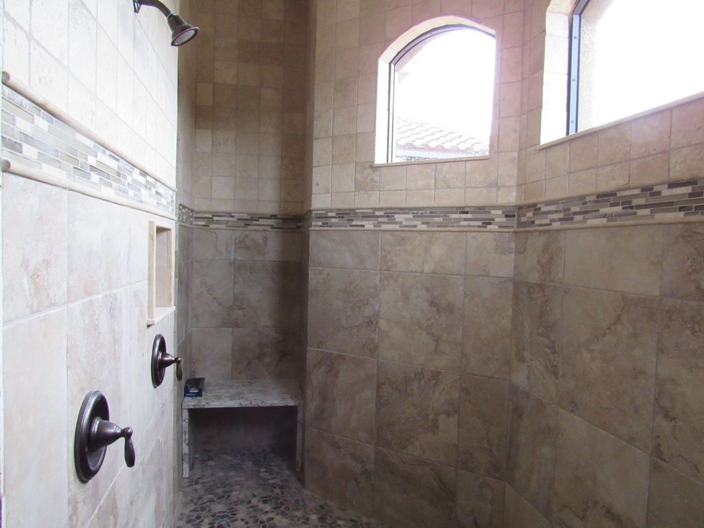 Beautiful Large Master Shower With