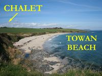 Serene chalet on Cornwall's Roseland Peninsula near superb sandy beach