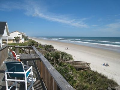 Elevated deck with 180 degree view of the beach