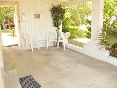 Carolina Beach house rental - Everyone likes the carport hang out and feel the breeze.