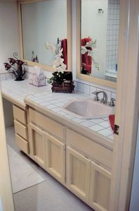 Master Bath with waterfall showerhead