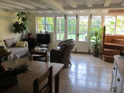 Cranbrook barn rental - The Oak Barn - South facing French windows of Lounge