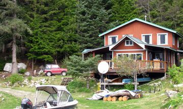 Haines cottage rental - Boat launch in front of the cabin