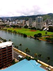 Waikiki condo photo - Ala Wai Canal and Iolani School
