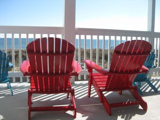 Carolina Beach condo photo - Your chairs await!