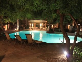 Scottsdale North condo photo - Beautiful pool area at night.