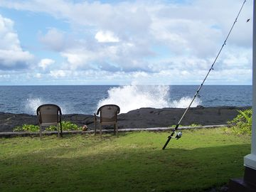 Hilo house rental - This is your back yard!! Nothing blocks the views - not even a fence!