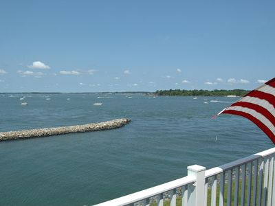 Our balcony faces the Indian River Inlet and bay. Watch the tides, birds & boats