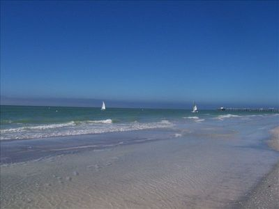 Beautiful North Redington Beach with sailboats.