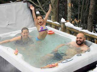 Lake Placid chalet photo - Hot tub for 5