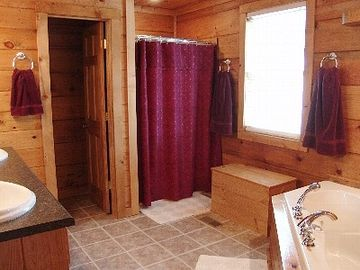 Large Main Floor Master Bath With Jacuzzi Tub and Separate Shower