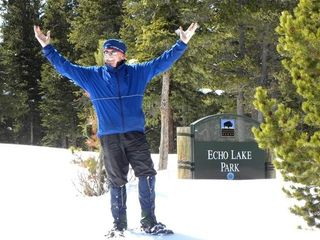 Evergreen cottage photo - X-C Skiing and Snowshoeing at Echo Lake in the Close by Mt Evans Wilderness Area