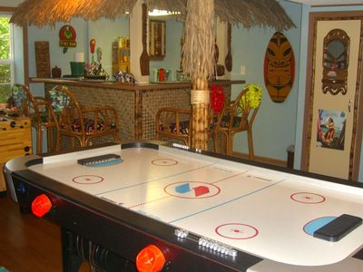 Surf Shack - Main Living Area - airhockey, foosball, tiki bar...