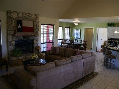 Smithwick house rental - Living area through to dining and kitchen