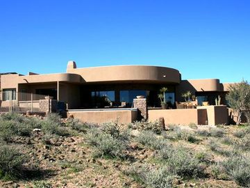 Fountain Hills house rental - Single Level Adobe Style Home - large patio and pool looks out to desert