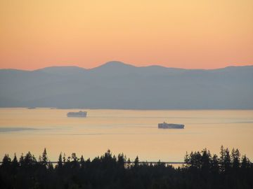 Looking across the Strait to Vancouver Island, B.C.