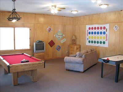 There is plenty to do in the game room.