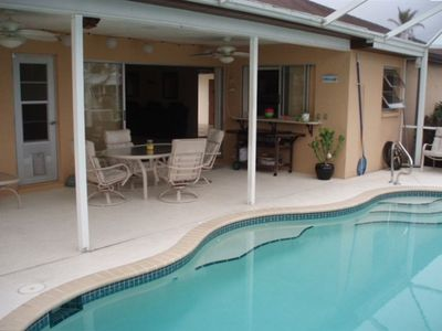 Pool Lanai w/ Plenty of Seating and BBQ