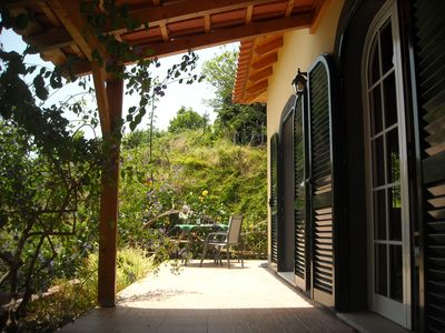 Calheta cottage rental - terrace Malmsey