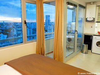 Palermo apartment photo - Look at the incredible view from your bed! Doors and curtains close if you want
