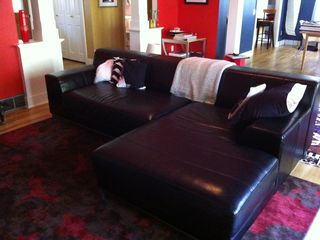 Orleans house photo - leather couch
