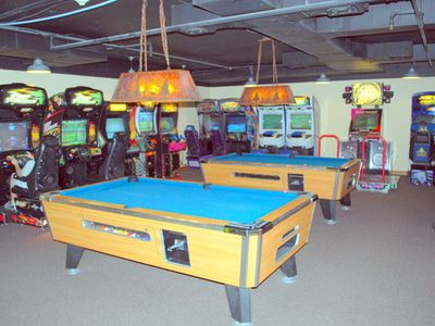 Game Room with Two Pool Tables for the Kids Entertainment