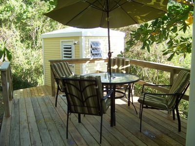 brand new back deck! Great for outdoor dining