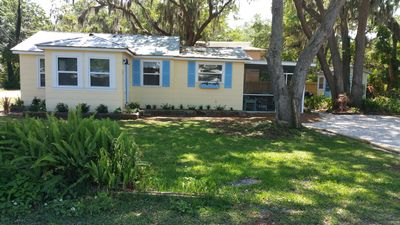 Recently updated 1950 Ozona cottage steps away from the gulf & marinas. Charming