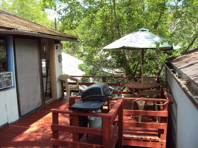 Fine for a B.B.Q.  Beautiful views to enhance your outdoor dining pleasure.