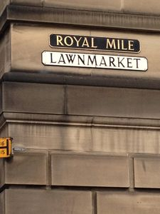 In the Old Town - Lawnmarket, Royal Mile