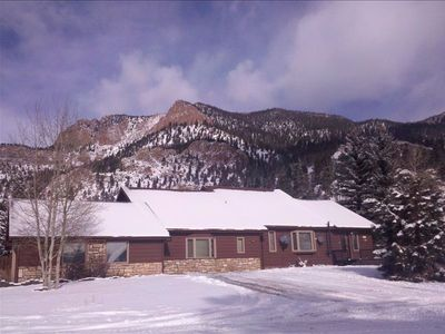 Good snow, warm cabin, close highway access, by Rio Grande in Nat'l Forest.