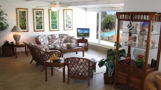 Princeville condo photo - A very comfortable, casual, but distictly Hawaiian setting for your Kauai stay.