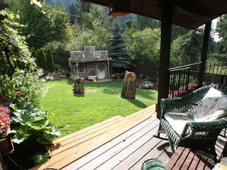 Sandpoint house photo - Sitting on the east side of the house overlooking the garden