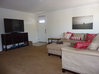 Living Area with 50 inch flat screen TV