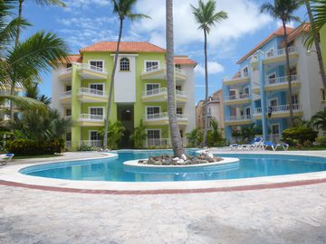 Punta Cana apartment rental - The unit is in the blue building at the end on the second floor
