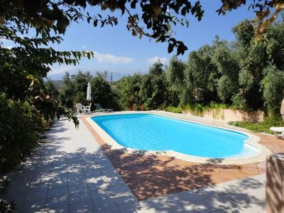 Large private pool set in our olive grove